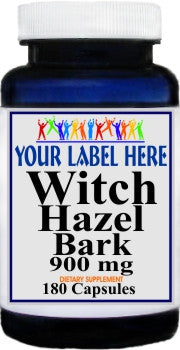 Private Label Witch Hazel Bark 900mg 180caps Private Label 12,100,500 Bottle Price