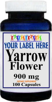 Private Label Yarrow Flower 900mg 100caps Private Label 12,100,500 Bottle Price