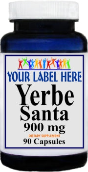 Private Label Yerba Santa 900mg 90caps Private Label 12,100,500 Bottle Price