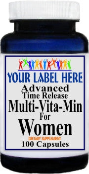 Private Label Advanced Multi-Vit-Min Women 100caps or 200caps Private Label 12,100,500 Bottle Price