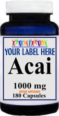 Private Label Acai 1000mg 180caps Private Label 12,100,500 Bottle Price