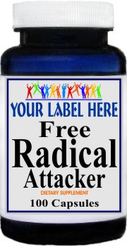 Private Label Free Radical Attacker 100caps or 200caps Private Label 12,100,500 Bottle Price