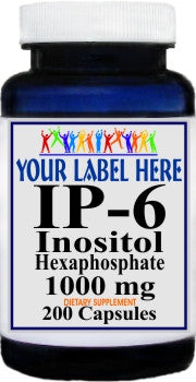 Private Label IP-6 Inositol Hexaphosphate 1000mg 200caps Private Label 12,100,500 Bottle Price
