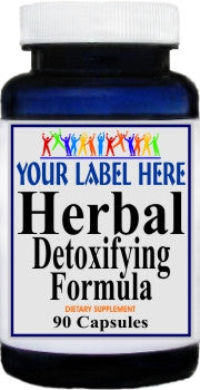 Herbal Detoxifying Formula 90caps Private Label 25,100,500 Bottle Price