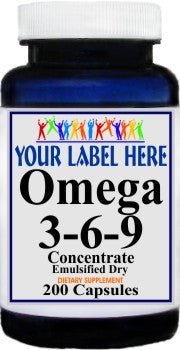 Private Label Omega 3-6-9 (Emulsified Dry) 200caps Private Label 12,100,500 Bottle Price