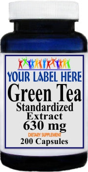 Private Label Green Tea Standardized Extract 630mg 200caps Private Label 12,100,500 Bottle Price