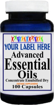 Private Label Advanced Essential Oils (Emulsified Dry) 100caps or 200caps Private Label 25,100,500 Bottle Price