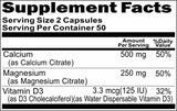 Private Label Calcium and Magnesium Citrate + Vitamin D 100caps Private Label 12,100,500 Bottle Price