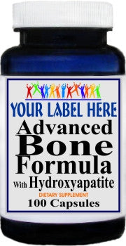 Advanced Bone Formula With Hydroxyapatite 100caps or 200caps Private Label 100 Bottle Price