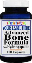 Private Label Advanced Bone Formula With Hydroxyapatite 100caps or 200caps Private Label 25,100,500 Bottle Price