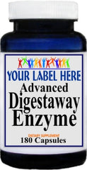 Private Label Advanced Digestaway Enzyme 180caps Private Label 12,100,500 Bottle Price