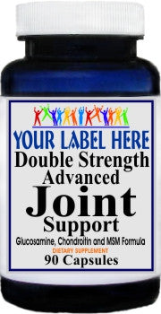 Private Label Double Strength Advanced Joint Support 90caps or 180caps Private Label 12,100,500 Bottle Price