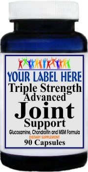 Private Label Triple Strength Advanced Joint Support 90caps or 180caps Private Label 12,100,500 Bottle Price