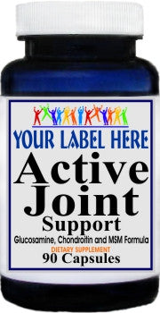 Private Label Active Joint Support 90caps or 180caps Private Label 12,100,500 Bottle Price