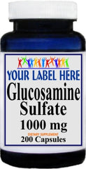 Private Label Glucosamine Sulfate 1000mg 200caps Private Label 12,100,500 Bottle Price