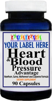 Private Label Heart and Blood Pressure Advantage 90caps or 180caps Private Label 12,100,500 Bottle Price