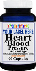 Heart and Blood Pressure Advantage 90caps or 180caps Private Label 25,100,500 Bottle Price