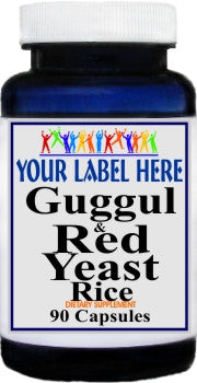 Private Label Guggul and Red Yeast Rice 90caps Private Label 12,100,500 Bottle Price