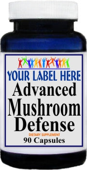 Private Label Advanced Mushroom Defense 90caps or 180caps Private Label 12,100,500 Bottle Price
