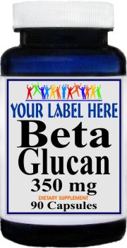 Beta Glucan 350mg 90caps or 180caps Private Label 100 Bottle Price