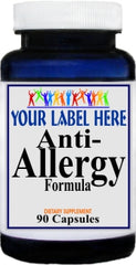 Private Label Anti-Allergy Formula 90caps Private Label 12,100,500 Bottle Price
