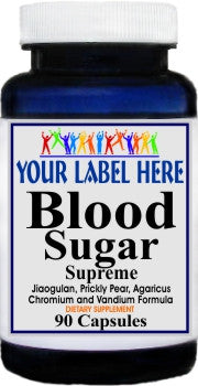 Blood Sugar Supreme 90caps Private Label 100 Bottle Price