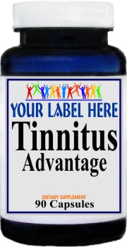 Private Label Tinnitus Advantage 90caps Private Label 25,100,500 Bottle Price