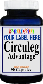 Circuleg Advantage 90caps or 180caps Private Label 25,100,500 Bottle Price