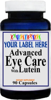 Advanced Eye Care with Lutein 90caps or 180caps Private Label 25,100,500 Bottle Price