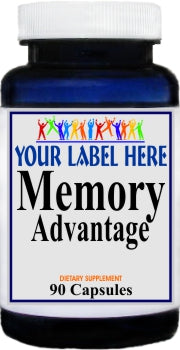 Memory Advantage 90caps Private Label 25,100,500 Bottle Price