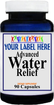 Private Label Advanced Water Relief 90caps Private Label 25,100,500 Bottle Price