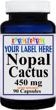 Private Label Nopal Cactus 450mg 90caps or 180caps Private Label 12,100,500 Bottle Price