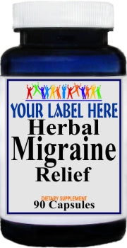 Private Label Herbal Migraine Relief 90caps Private Label 12,100,500 Bottle Price