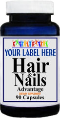 Private Label Hair & Nails Advantage 90caps Private Label 12,100,500 Bottle Price
