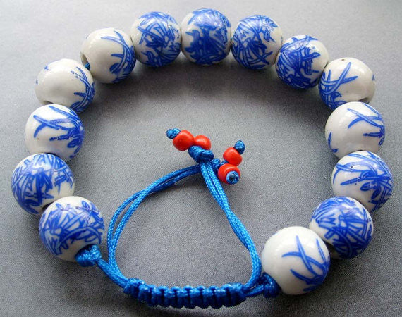 Bamboo Leaf Beads Adjustable Bracelet