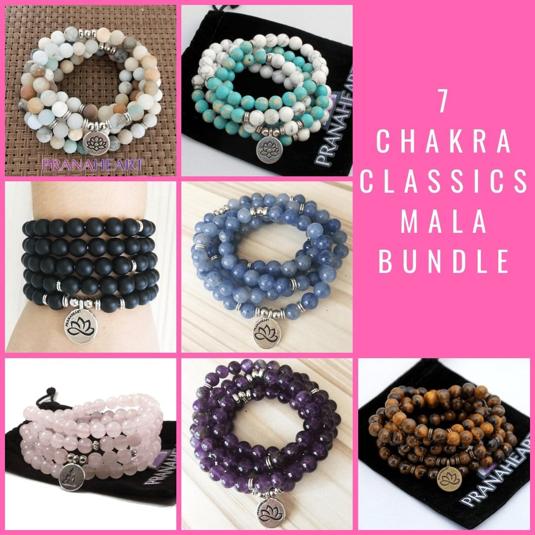 7 Chakra Classics Mala Bundle - Prana Heart: Everyday Mindfulness