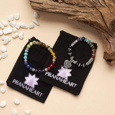 7 Chakra Healing Bracelet Bundle - Prana Heart: Everyday Mindfulness