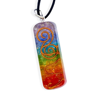 7 Chakra Orgone Pendant Necklace - Prana Heart: Everyday Mindfulness