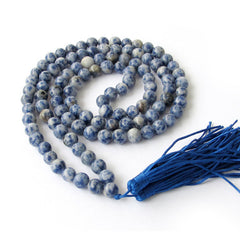 Blue Point Agate Stone Mala (108 Beads)