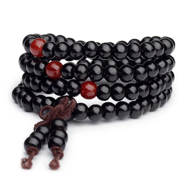 Buddhist Black Sandalwood Mala Bracelet - Prana Heart: Everyday Mindfulness