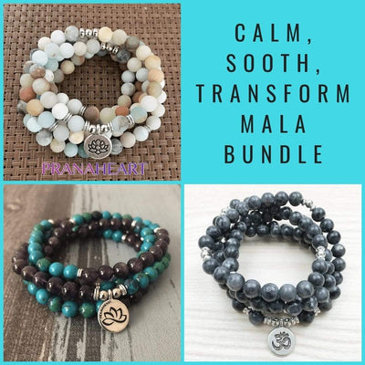 Calm, Sooth, and Transform Mala Bundle - Prana Heart: Everyday Mindfulness