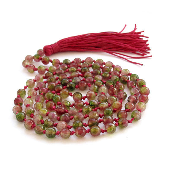 Colorful Agate Stone Mala (108 Beads)