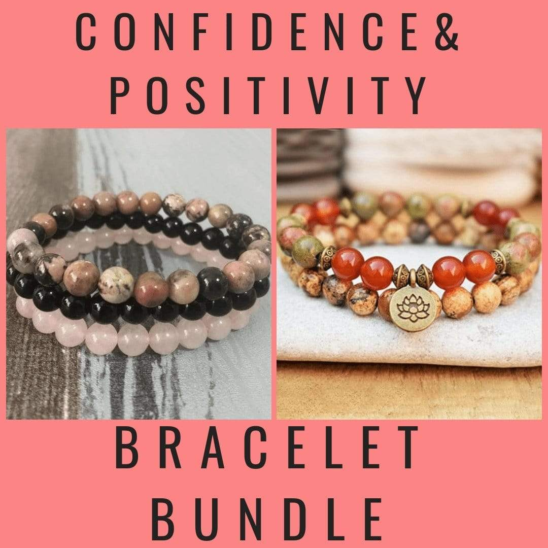 Confidence & Positivity Bracelet Bundle - Prana Heart: Everyday Mindfulness