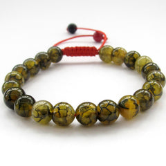 Dragon Vein Agate Buddhist Bracelet