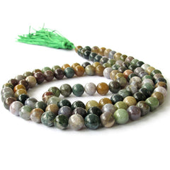 Tibetan Indian Agate Prayer Mala (108 Beads)