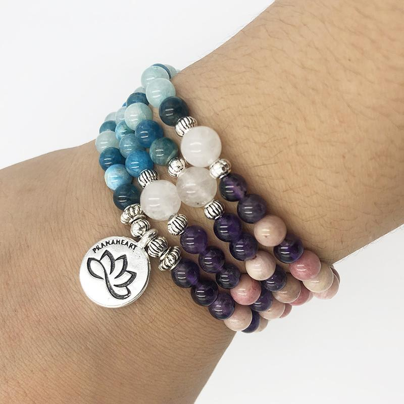 Inner Peace Lotus Mala - Prana Heart: Everyday Mindfulness