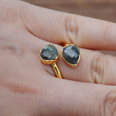 Leafy Labradorite Ring - Prana Heart: Everyday Mindfulness