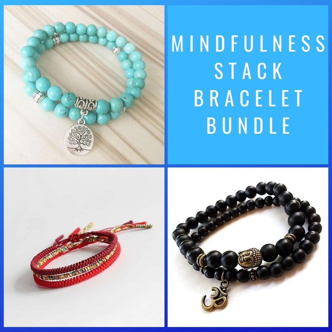 Mindfulness Stack Bracelet Bundle - Prana Heart: Everyday Mindfulness