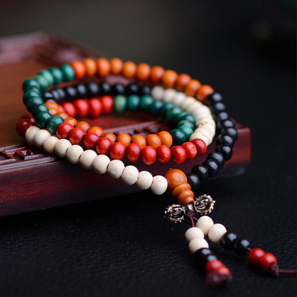 Buddhist Sandalwood Mala Bracelet/Necklace