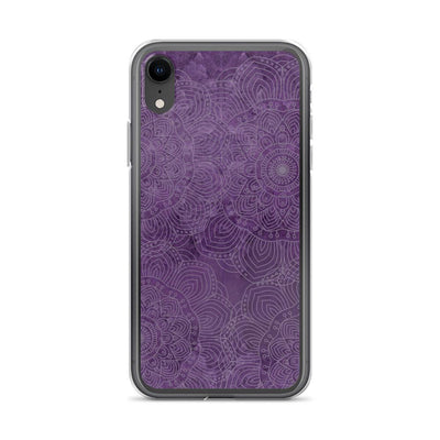 Natural Amethyst Mandala iPhone Case